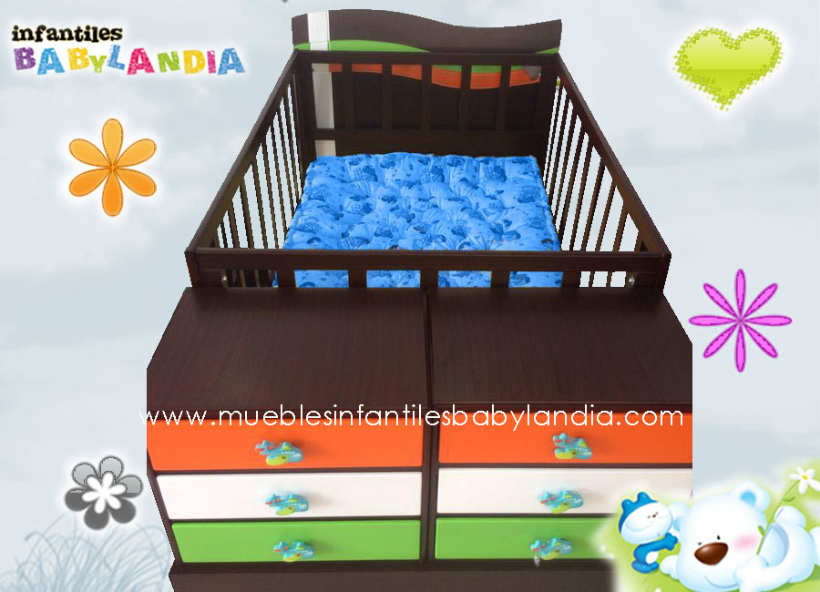 Cama Cunas para Bebe + Comoda - Muebles Infantiles | Cunas Bogotá ...
